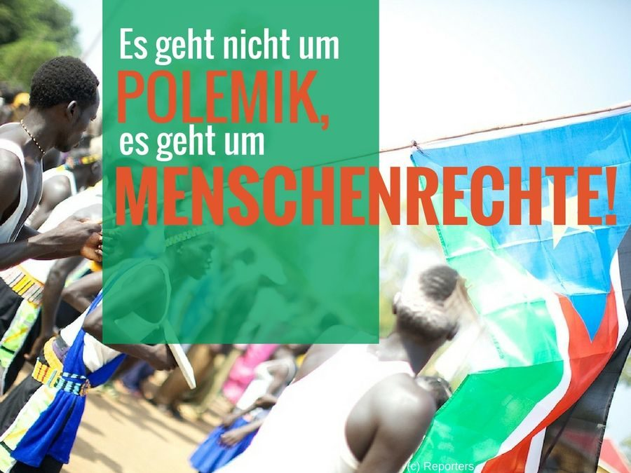 Es geht nicht um Polemik, es geht um Menschenrechte!